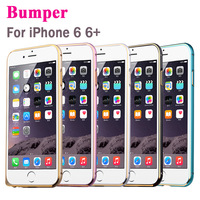 """Luxury Thin Metal Aluminium Alloy Bumper Frame Case Cover Hippocampal Button For iPhone 6 4.7"""" for iPhone 6 Plus 5.5"""" 2015 New"""