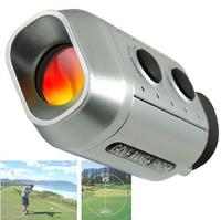 Free shipping Digital 7x Optic Telescope Pocket Laser Golf Range Finder Rangefinder Golf scope Yards Measure Distance Meter