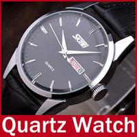 Hot Sale Fashion Casual Brand SKMEI Quartz Analog Waterproof Wrist Watch Genuine Leather Strap Men Watch Relogio Masculino
