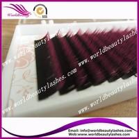 5trays  0.15mm individual  Black-Hot pink two tone color false eyelash extension