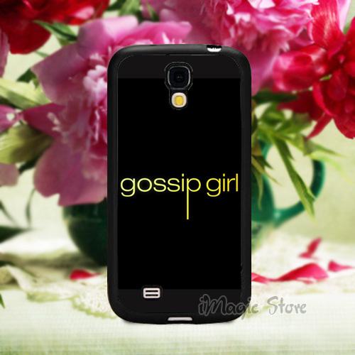 Gossip Girl Custom Plastic Case for Samsung S4(TPU) Black Mobile Phone Cases(China (Mainland))