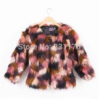 Europe Autumn Female Fake Colorful Fur Coat Women's Winter Jacket Abrigos Piel Top Clothes Elegant Sexy Fashion Luxury Overcoat