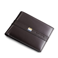Fashion Mens Genuine Leather Bifold Wallet Credit/ID Card Holder Slim Purse Photo Holder