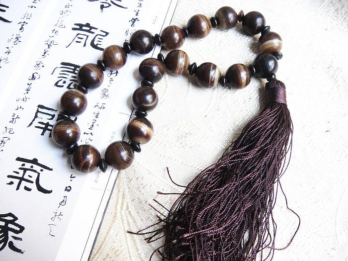 Tibet Sardonyx Chalcedony Beads Beads 19 16mm Old Agate Beads Pendant Identification Certificate No. 676(China (Mainland))
