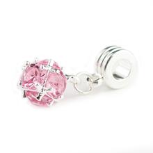 1Pc Silver Bead Charm Fit pandora European Crystal Ball Pendant Bead Charms Fit Diy Snake Chain Bracelets & Bangles H1004