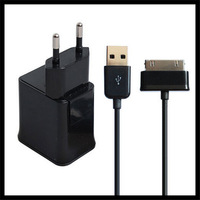 100SET 2.0A 2 In 1 For Samsung Galaxy Tab P1000 P7500 P7100 P6200 EU Wall Plug USB Port + Mobile Phone Charger Tablet PC Charge