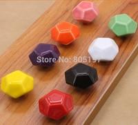 Single hole ,Furniture knobs ,Cabinet handle  Ceramic knob children knob  10pcs/Lot