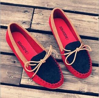2014 весна лодка обувь плоский каблук круглые носок обуви gomМини бездельники сладкие ...