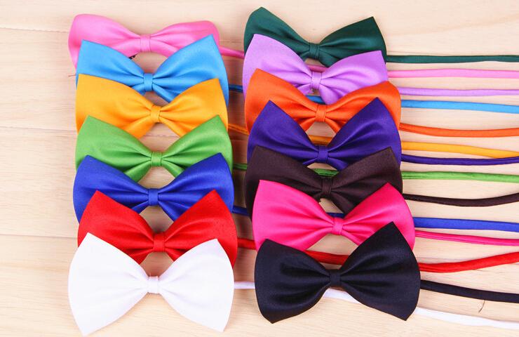 100pcs/lot Multicolor Dog neck tie Dog bow tie Cat tie Pet jewelry children tie Pet Headdress Bowtie Necktie(China (Mainland))