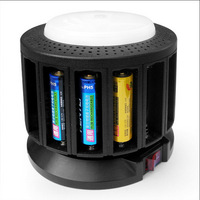 KENTLI 16 Slots PORTS 1.5V AA AAA Lithium Rechargeable Battery Smart charger CHA-16RL with Emergency lamp Fuction