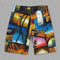 Free shipping 4pcs/lot big children high quality beach sight print quickly dry board shorts, boys beach shorts