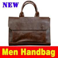 2105 New Man bag Fashion Shoulder Handbag High capacity Retro men's bags Simulation crazy horsehide Handbags for men