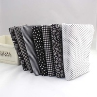 New Products! Black Fat Quarter Bundle Cotton Fabric Tilda Quilting Patchwork 7 Designs Assorted 50CMx50CM / Piece
