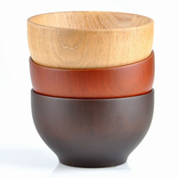 Fashion HOT Natual wood Bowl large salad eco-friendly healthy chestnut Quality wooden Cooking Tool Free Shipping