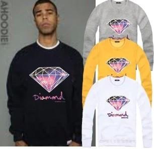 Diamond Supply Co Men Hoddie M-4XL 2015 Hip Hop Sweatshirt O-Neck 8 Colors Sudaderas Sport Suit Men Brand Moletom Diamond Hoddie(China (Mainland))