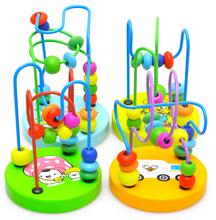 Hot enfants enfants bébé Colorful bois Mini autour perles jeu éducatif Toy(China (Mainland))