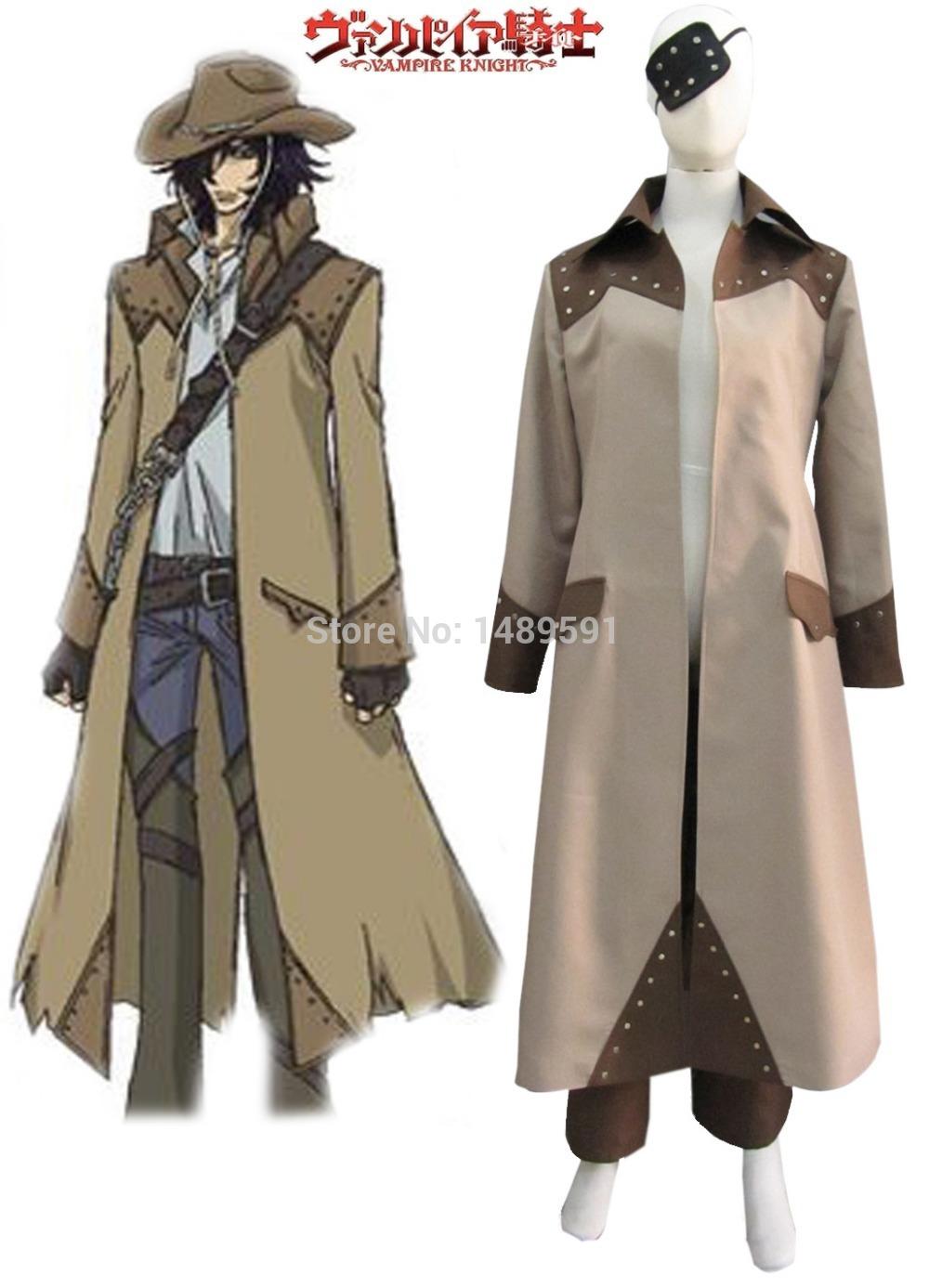 Vampire Knight Toga Yagari Vampire Hunter Overcoat Cosplay Costume Free Shipping(China (Mainland))