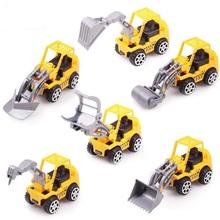6 pçs/lote cor amarela modelos de caminhão de brinquedo Mini brinquedos de construção caminhões para crianças Children Play brinquedos de presente(China (Mainland))
