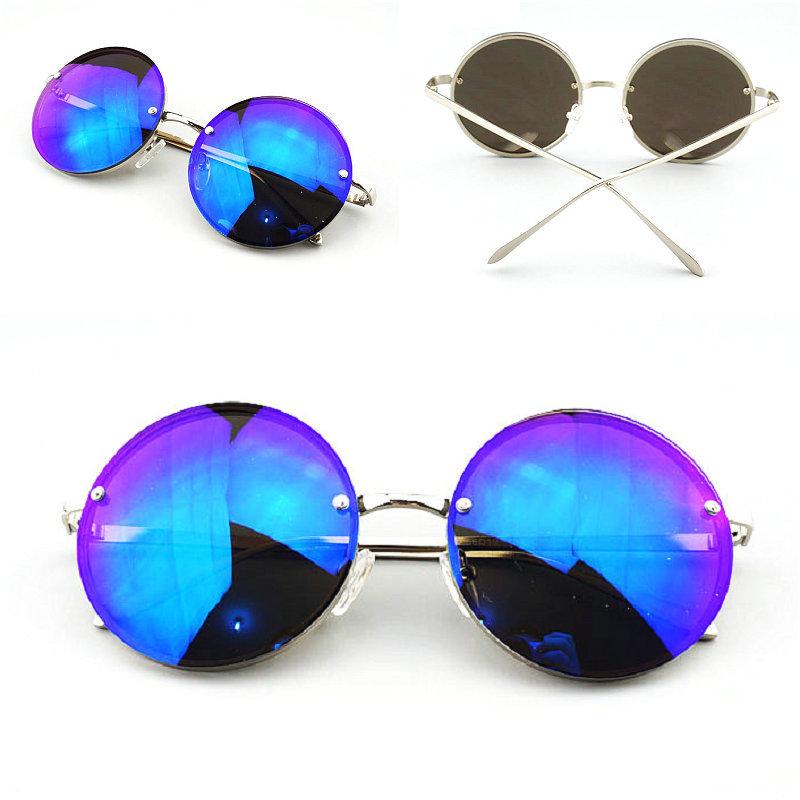 Big Promotion Men Retro Oculos De Sol Lenses UV Protection Round Frame Unisex Band Fashion Sunglasses Male S4107(China (Mainland))