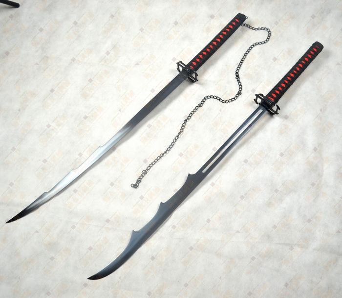 Bleach sword cosplay bushido Japanese practical samurai sword handmade katana damascus folded steel(China (Mainland))