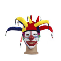 Hot party props Halloween cosplay  clown hat with clown latex mask