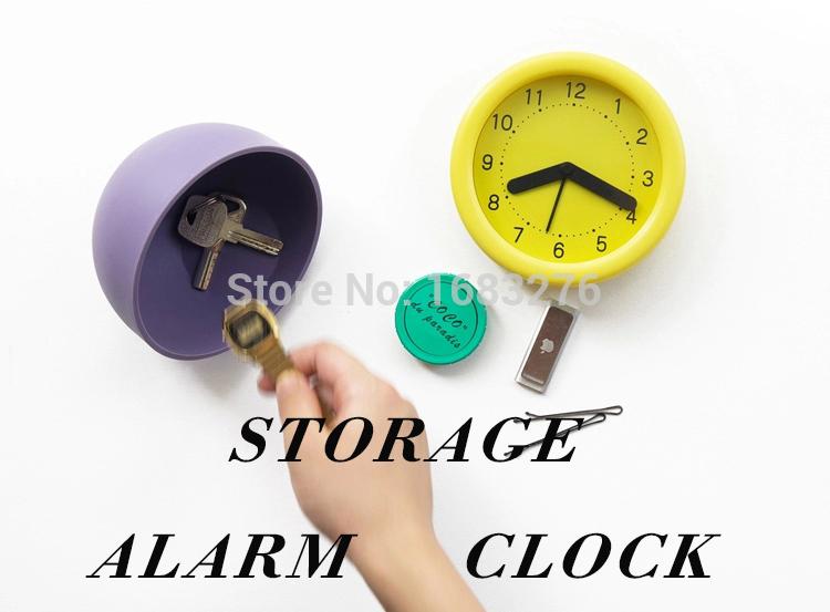 Hidden Table Alarm Clock Stash Valuable Safe Secret Storage Novelty2015 freeship(China (Mainland))