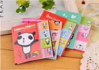 Korea Creative stationery animal girl Two fold memo pad sticky N times stickers 3207AL
