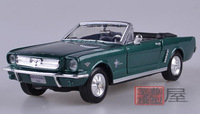New Famous 1964 Ford Mustang Car 1:24 High Imitation Alloy Classic Car Model Collectable Convertible Decoration Free Shipping