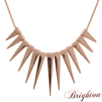 2015 Pendant Necklace Gold Silver Rose gold Antique silver Color Alloy Spike Steampunk Necklace New Fashion Bijoux Women