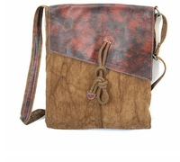 High Quality Canvas Crossbody Bags for Women with Genuine Leather Trim Cotton Webbing Korea Fresh Casual Style