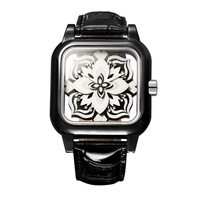 holiday sale high quality Leather Sapphire Glass Luxury Watch Children women dress fashion Crystal top Brand Ladies wrist Watch