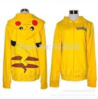 anime Pikachu Cosplay costume Adult Women Men vestidos fleece  sports hoodies sweatshirt disfraces Halloween clothes