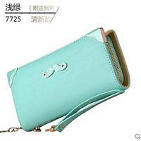 Women Wallets Real Carteira Masculina Wallets 2015 New Women Ladies Clutch Purse Zipper Change Wallet Wholesale Korean Beard