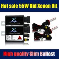 2015 55W 12V 2 Pcs car light single beam quick start  Hid Xenon Kit  Slim Ballast  H1/H3/H4/H7 block