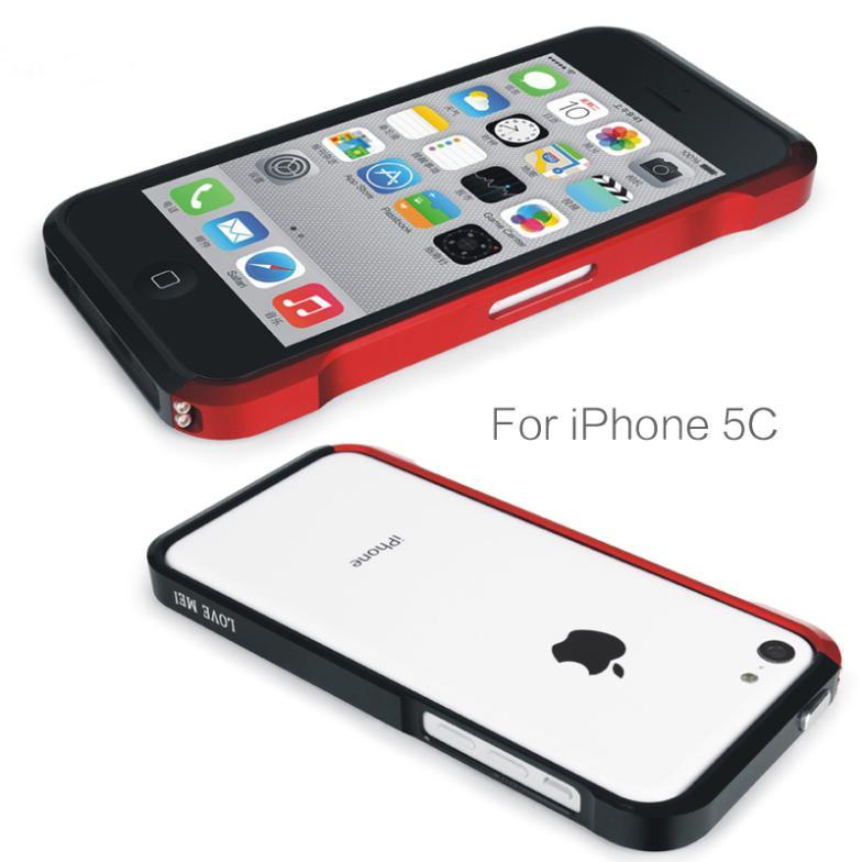 For Apple iPhone5C iPhone 5C Cases Aluminum Bumper Frame Case Love mei vapor 4 metal bumper for iPhone 5C Cover Case(China (Mainland))