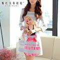 2015 Dress Pink Doll spring new women s beauty sweet beauty Printed Dress