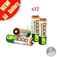 Original GP 3000mah AA Battery  1.2V Ni-MH Rechargeable Battery for toy /led flashlight 12pcs/lot