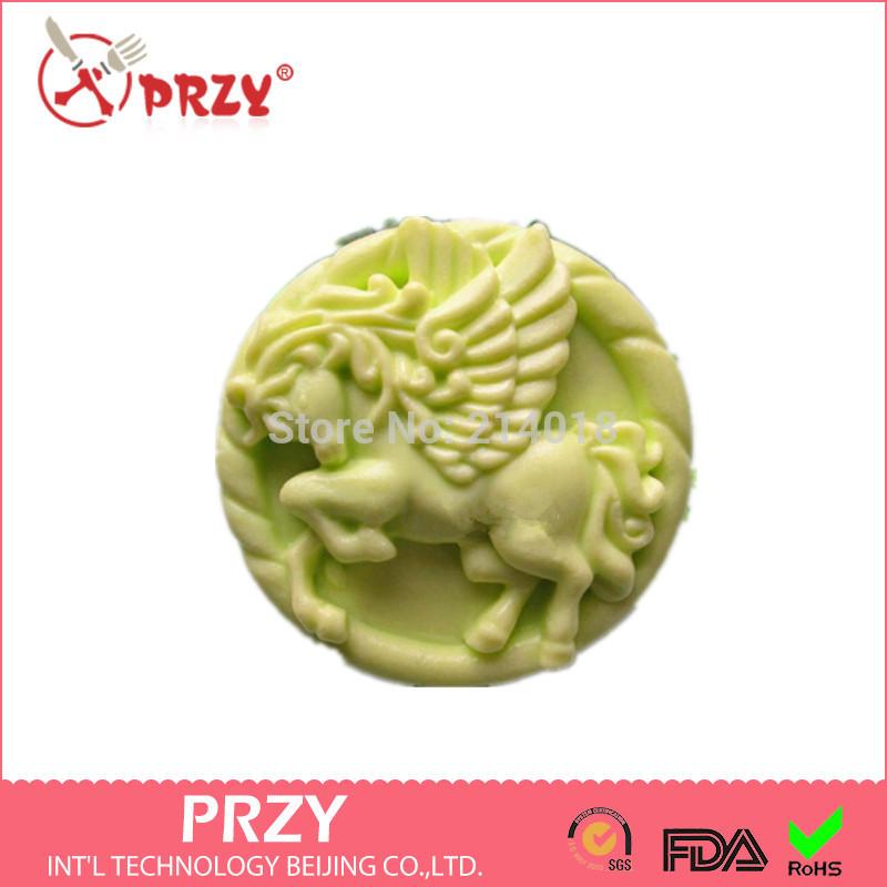 Diy Hot 3D cavalo Running forma handmade molde sabão vela animais moldes de silicone molde moldes dos doces de Chocolate forma de bolo(China (Mainland))