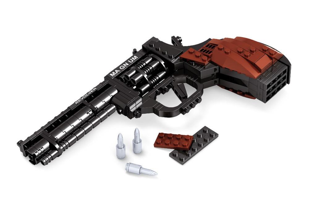 Revolver gun mod le 1 1 blocs de construction jouets 300 - Lego modeles de construction ...