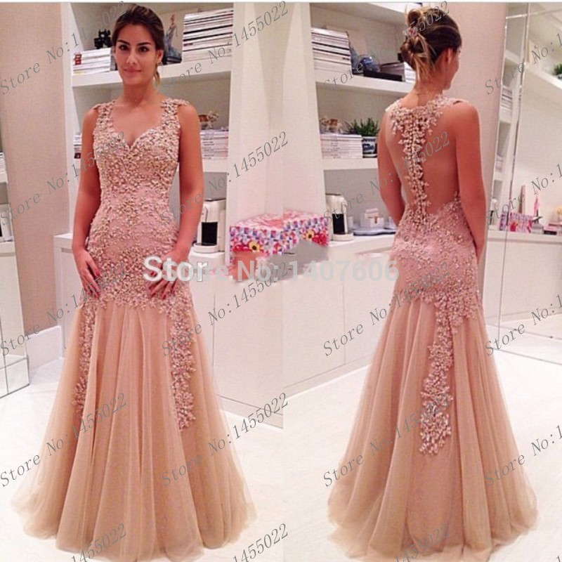 Prom Dresses Peach Colored Prom Dresses