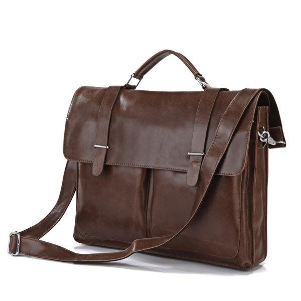 Bolsa De Ombro Masculina Couro : Nova moda masculina pasta de couro sacos ombro bolsas
