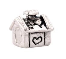 1Pc European Bead Charm Fit pandora Silver Heart Love House Bead Fit DIY Charm bracelets & bangles Necklace Women Jewelry H469