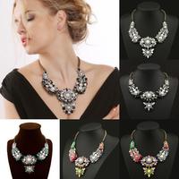New Charm Flower Jewelry Necklace Chain Statement Bib Chunky Collar Pendant #11T