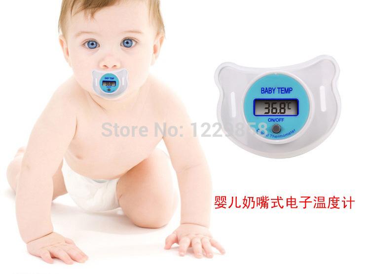 Health monitors Baby Nipple Thermometer termometro baby Pacifier LCD Digital Mouth Nipple Pacifier chupeta termometro testa(China (Mainland))