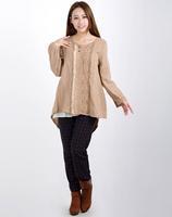 2015 Mori girl flower  exquisite clothing tribal light brown cotton comfort lace t shirt 3KAF197685