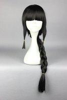 75CM Black With One Braid Kantai Collection  KanColle-Akatsuki Cosplay Party Costume Full Wig Fashion Women Syle