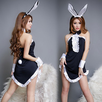 Sexy Pajamas Rabbit Girls Suits Cosplay Sexy Lingerie Set Five-piece Suits Baby Dolls