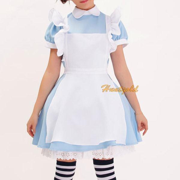 3in1 Apron Sexy Adult Clothes Housemaid Waitress Cosplay Costume Uniform Dress+Headband(China (Mainland))