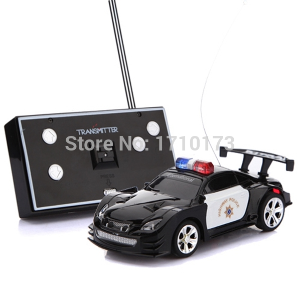 Brand New Hot Sale Best Price Mini RC Remote Radio Control Racing for Police Car Siren&LED Light Kids Children Toy Gift Present(China (Mainland))
