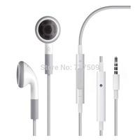 Earphone Headphone with Mic and volume control for Apple iPhone 4G 4S for iphone 5 5S For iphone 6 4.7 for iphone 6 plus 5.5